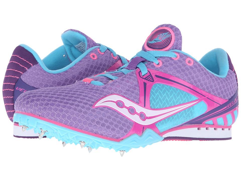 Saucony - Velocity 5 (Purple/Pink/Light Blue) Women's Running Shoes