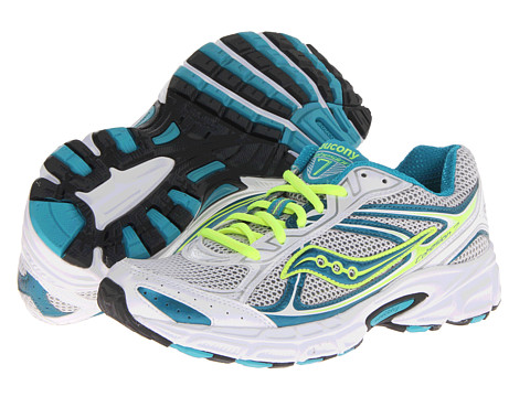 Saucony - Cohesion 7 (White/Teal/Silver) Women's Shoes
