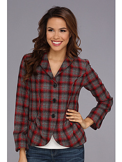 SALE! $116.99 - Save $142 on Pendleton Cordelia Jacket (Ombre Red Grey Plaid) Apparel - 54.83% OFF $259.00