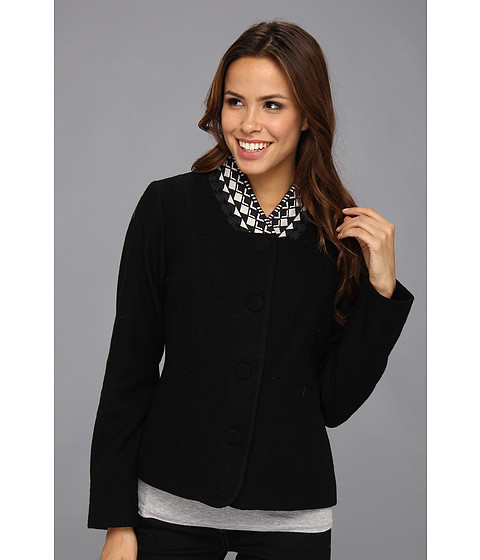 Pendleton - Tory Boiled Wool Jacket (Black Multi) Women