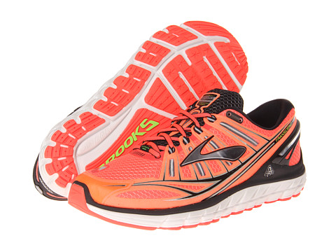 Brooks - Transcend (Fiery Coral/Silver/Black) Men