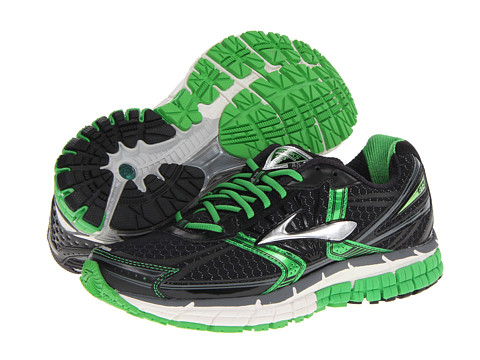 Brooks - Adrenaline GTS 14 (Black/Speed Green/Silver) Men's Running Shoes