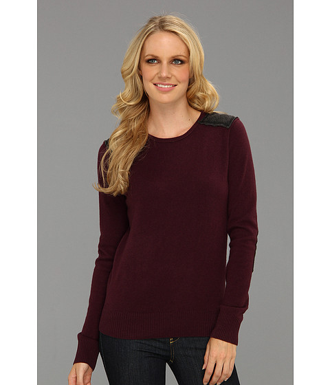 Michael Stars - Cashmere Blend Crew Neck (Grape) Women's Clothing