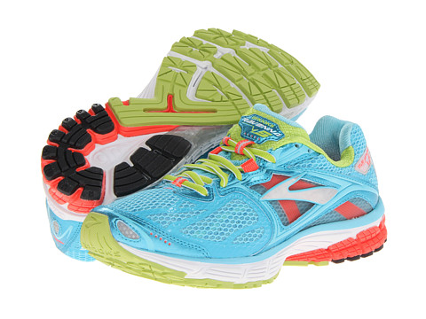 Brooks - Ravenna 5 (Blue Fish/Fiery Coral/Green Glow) Women