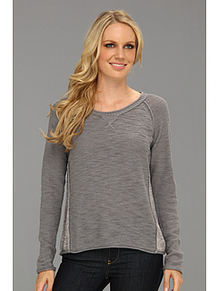 SALE! $41.99 - Save $76 on Michael Stars Slub Cotton Pullover (Galvanized) Apparel - 64.42% OFF $118.00