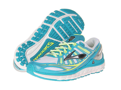 Brooks - Transcend (White/Silver/Capri Breeze) Women's Running Shoes
