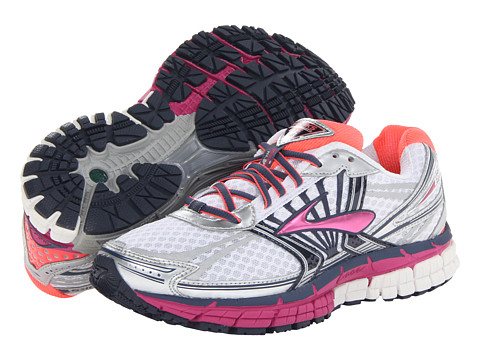 Brooks - Adrenaline GTS 14 (White/Fuschia/Midnight) Women's Running Shoes
