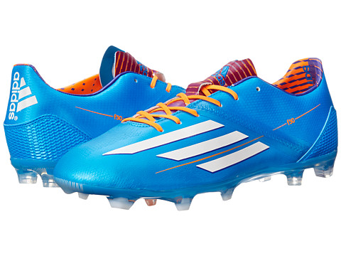 adidas - F30 TRX FG (Solar Blue S14/Running White FTW/Solar Zest) Men's Soccer Shoes