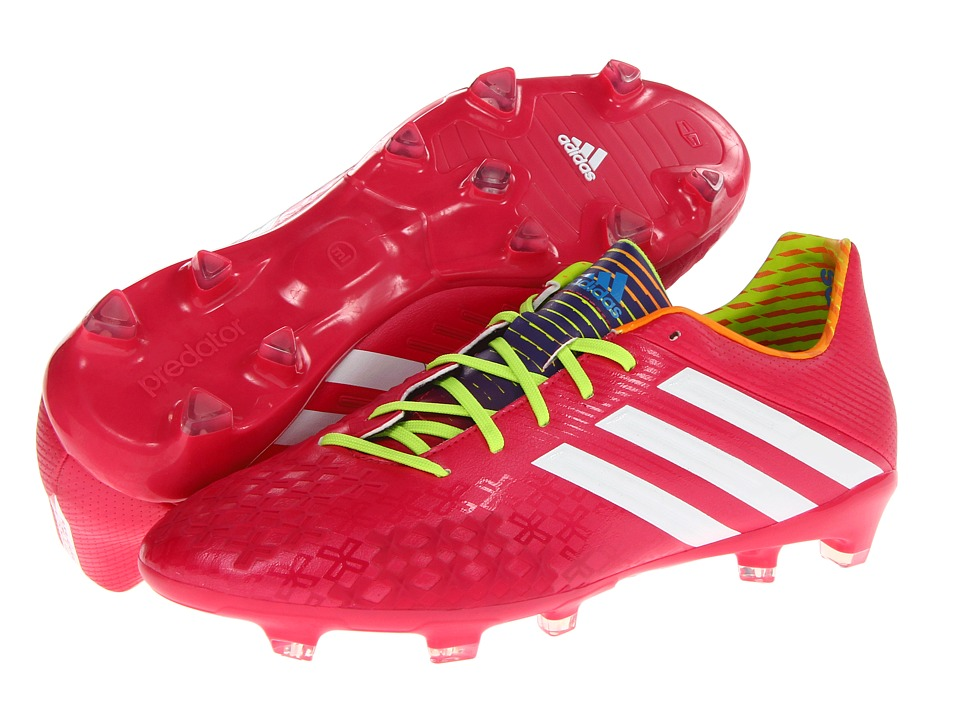 adidas - predator Absolion LZ TRX FG (Vivid Berry S14/Running White FTW/Solar Slime) Men's Soccer Shoes