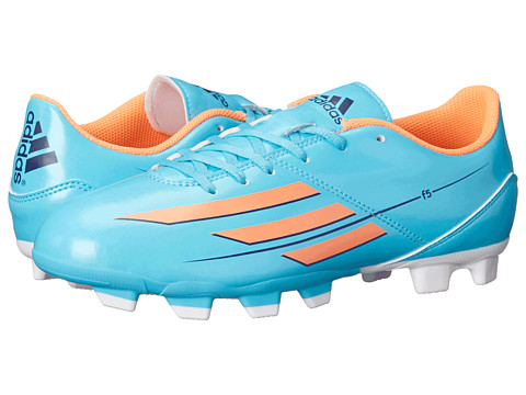 adidas - F5 TRX FG (Samba Blue S14/Glow Orange S14/Collegiate Purple) Women's Soccer Shoes