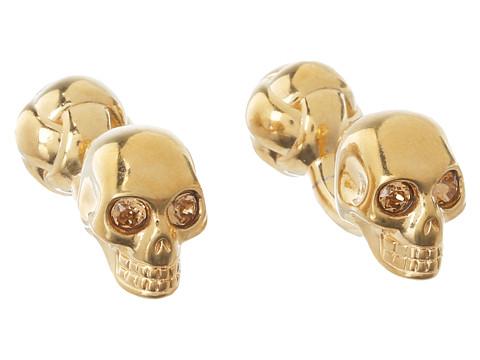 Alexander McQueen - Skull/Knot Cuff Link (Gold/Topaz) Cuff Links