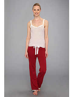 SALE! $36.99 - Save $41 on Michael Stars Cami and Drawstring Pant w Lace Detail (Cranberry) Apparel - 52.58% OFF $78.00