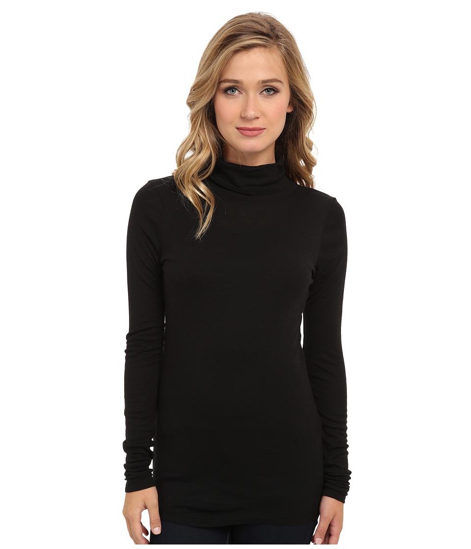 Michael Stars - Slub Long-Sleeve Turtleneck (Black) Women's Long Sleeve Pullover
