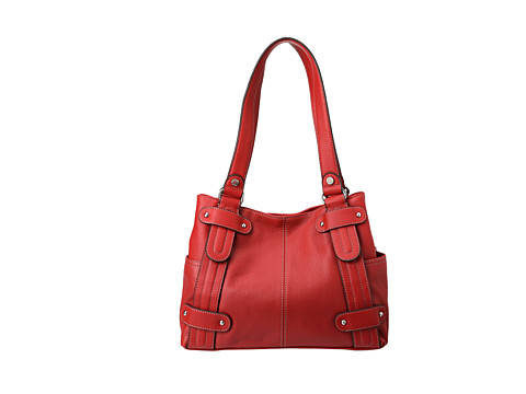 Tignanello Perfect 10 Studded Shopper (Rouge) Shoulder Handbags
