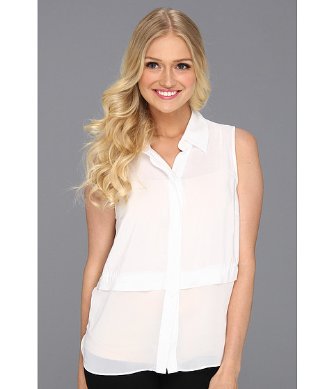 BCBGeneration - Pleat Button Down (White) Women