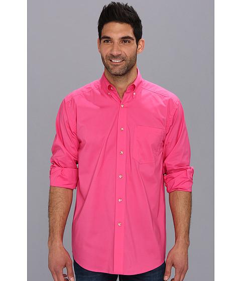 Ariat - Solid Poplin Shirt (Hot Pink) Men's Long Sleeve Button Up
