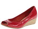 Cole Haan - Air Tali OT Wedge 40 (Tango Red Patent/Jute) - Footwear