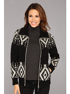 SALE! $86.99 - Save $102 on Pendleton Scappoose Boiled Wool Cardigan (Black Ivory) Apparel - 53.97% OFF $189.00
