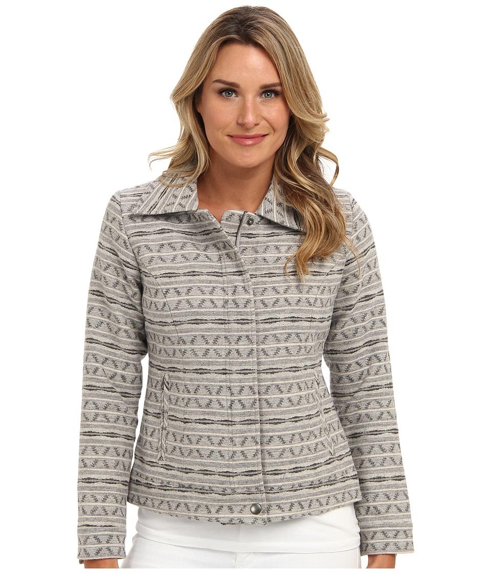 Pendleton - Pine Valley Jacket (Soft Grey Stripe Jacquard) Women's Coat
