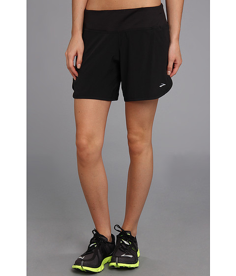 Brooks - Sherpa 6 Short (Black) Women's Shorts