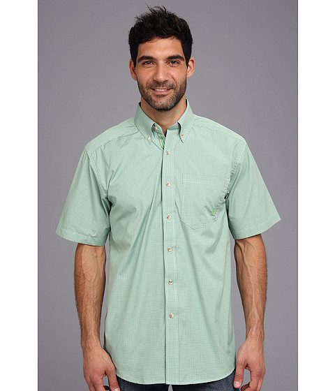 Ariat - Klamath S/S Shirt (Lime Green) Men's Short Sleeve Button Up