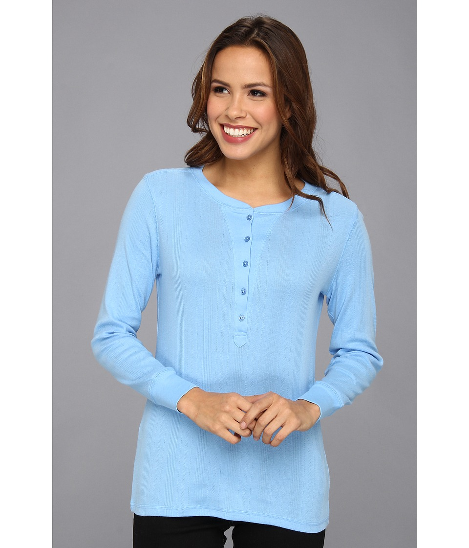 Pendleton - Pretty Pointelle Pullover (Ice Blue) Women's Long Sleeve Pullover