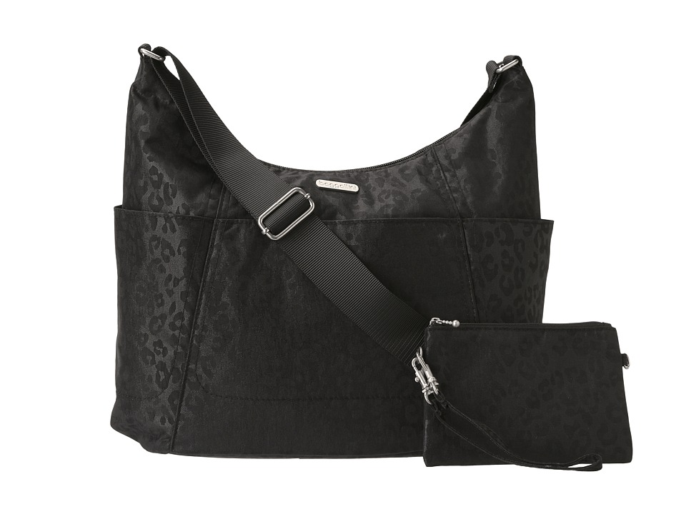 Baggallini - Hobo Tote (Cheetah/Black) Cross Body Handbags