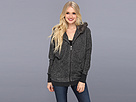 DKNY Jeans Fur Hooded Zip Up Sweatshirt