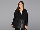 DKNY Jeans Plus Size Faux Leather And Ponte Jacket