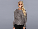 DKNY Jeans Faux Suede And Foil Drapey Jacket