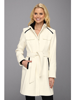 SALE! $86.99 - Save $102 on Vince Camuto Single Breast Military Belted Coat (Cream) Apparel - 53.97% OFF $189.00
