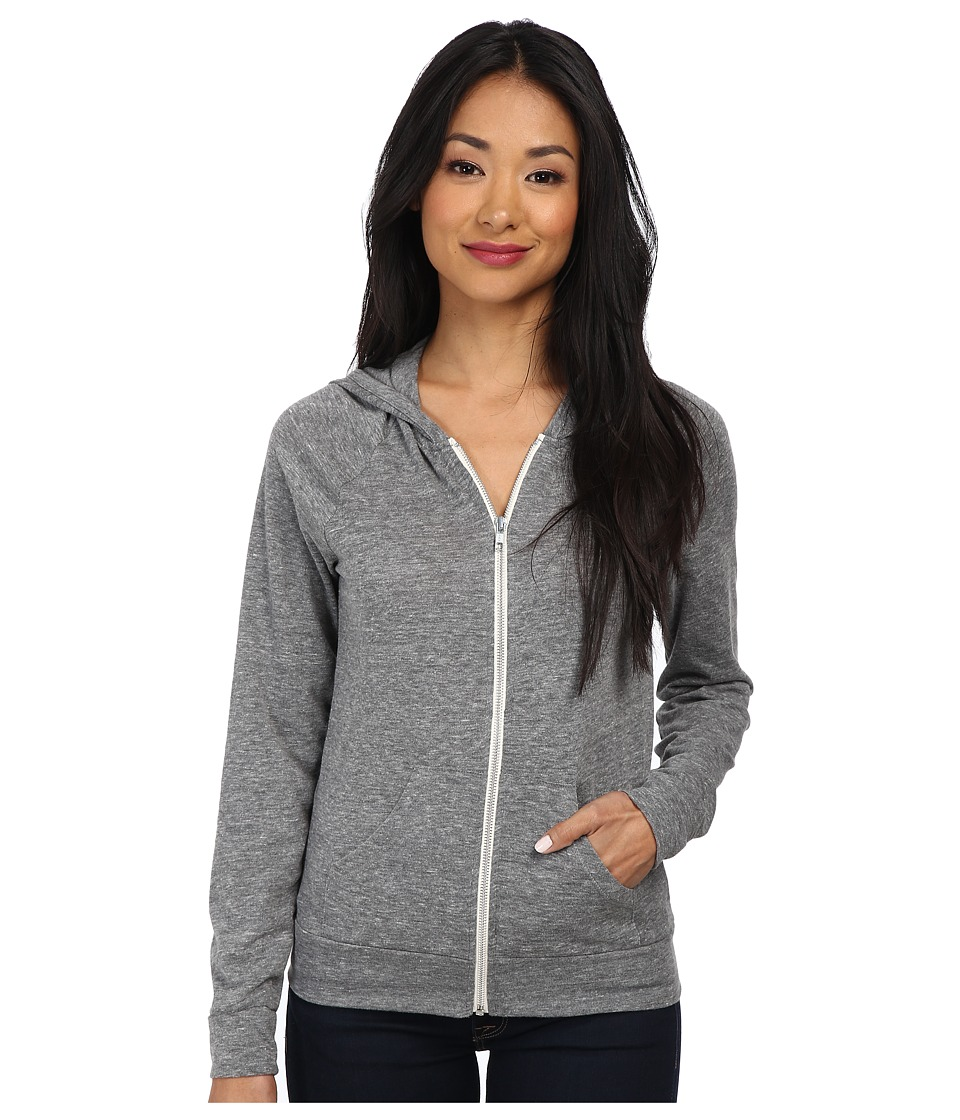 Alternative - Relay Raglan Hoodie (Eco Grey) Women's Sweatshirt