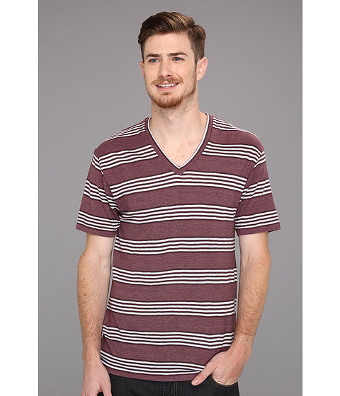 Alternative - Compass V-Neck (Raisin Montreal Stripe) Men