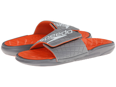 Speedo - Exsqueeze Me Rip Slide (Frost Grey/Flame) Men's Sandals