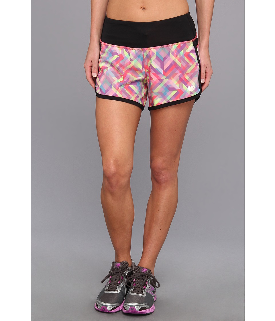 New Balance - Impact Graphic Short (Multi Color) Women's Shorts