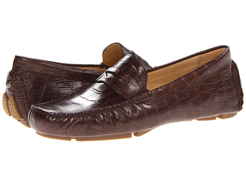 Cole Haan Trillby Driver (Chestnut/Gold Croc Print) Women's Slip on Shoes