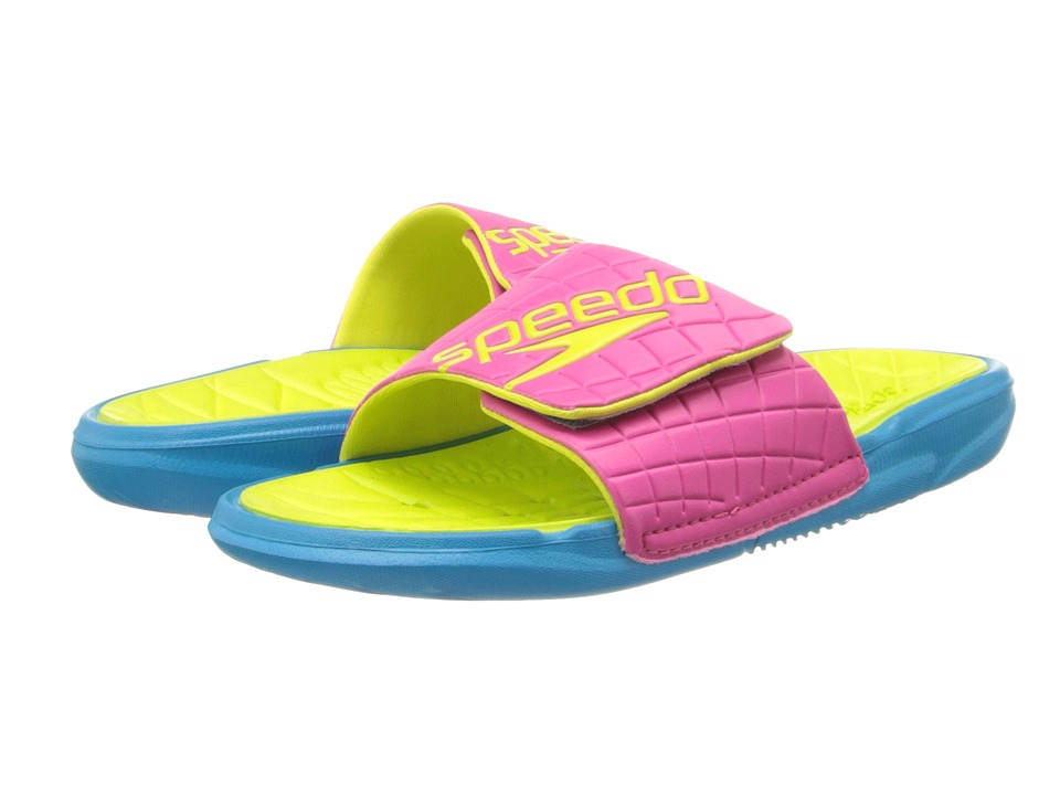 Speedo - Exsqueeze Me Rip Slide (Fuchsia/Sulphur Spring) Women's Slide Shoes