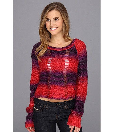 Fox - Glimmer Crop Sweater (Dark Red) Women