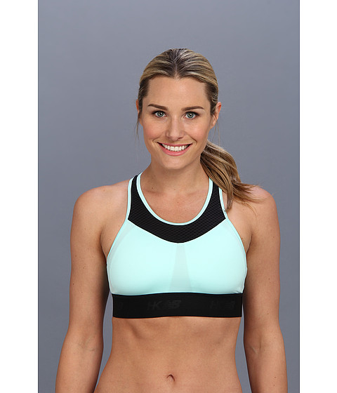 New Balance - HKNB Hottie Bra (White Mint) Women's Workout