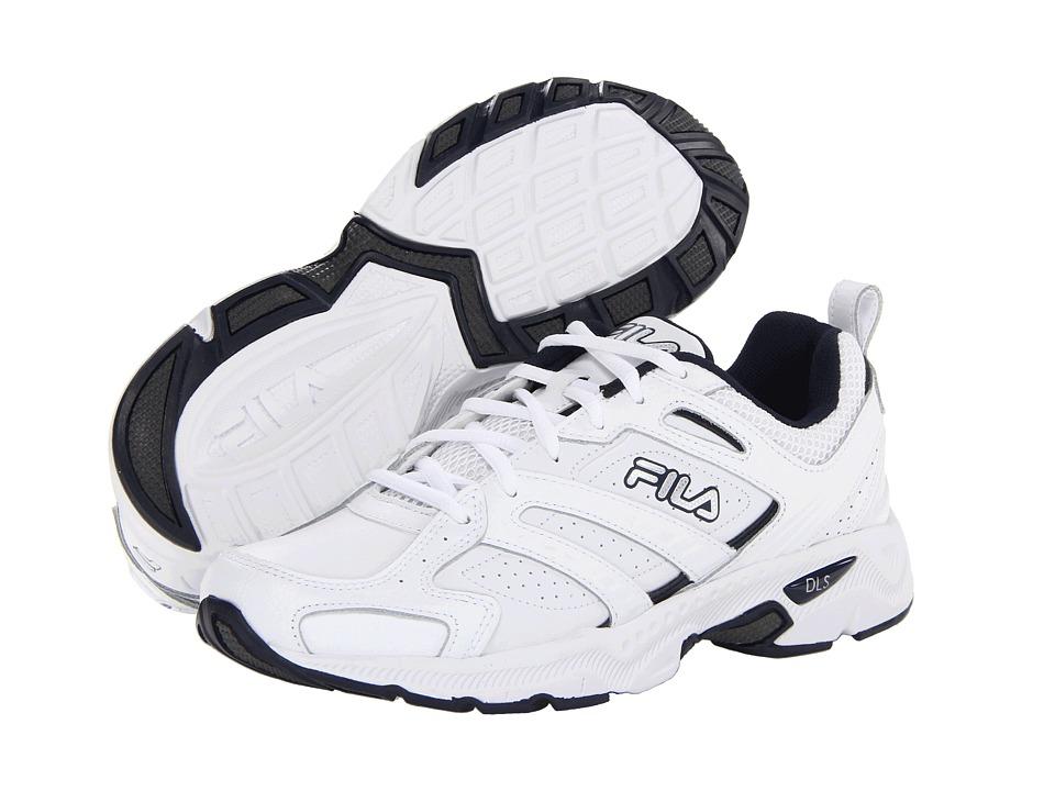 Fila - Capture (White/Peacoat/Metallic Silver) Men's Shoes