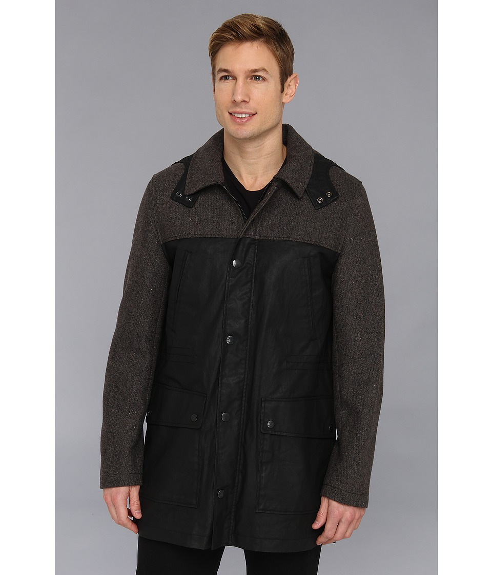 Vince Camuto - Technical Cotton Anorak (Black) Men