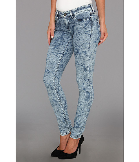 Mavi Jeans - Serena Low-Rise Super Skinny in Blue Paisley (Blue Paisley) Women