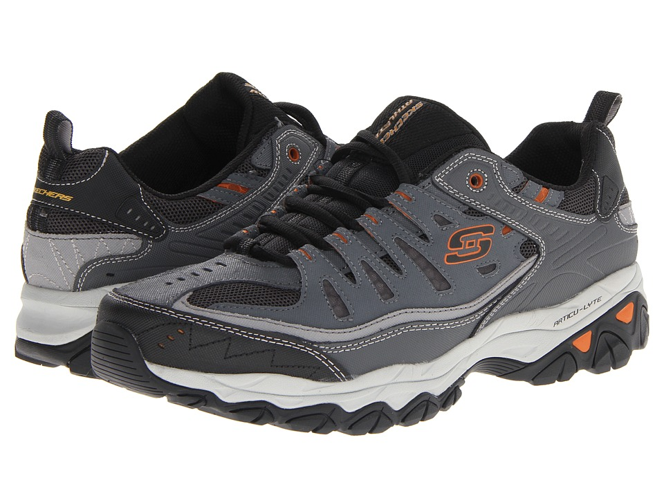 SKECHERS - Afterburn M. Fit (Charcoal) Men's Lace up casual Shoes