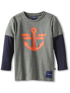 SALE! $11.99 - Save $22 on Toobydoo Boys` Anchor Tee (Infant Toddler Little Kids Big Kids) (Grey) Apparel - 64.74% OFF $34.00
