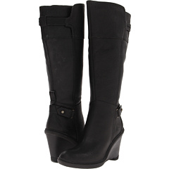 Timberland Earthkeepers Stratham Heights Wedge Boot (Black) Footwear