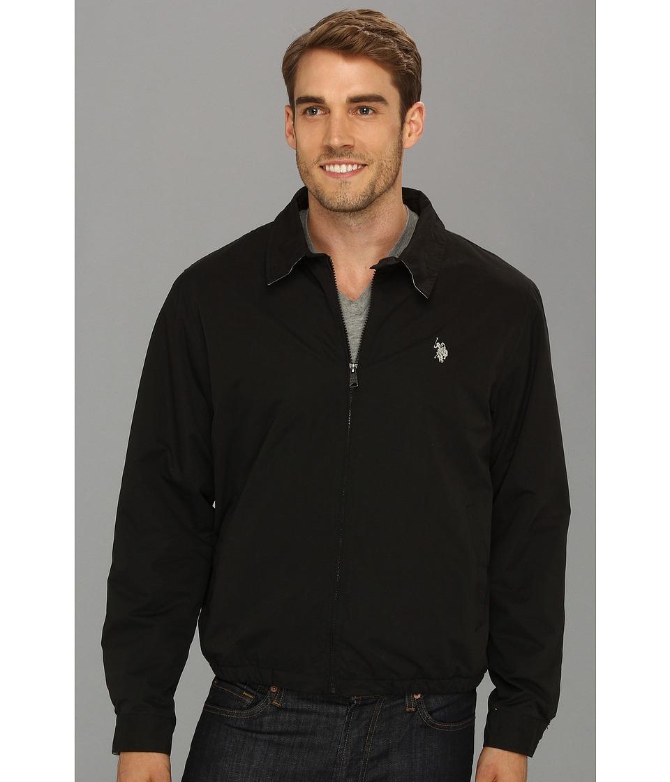 U.S. POLO ASSN. - Micro Golf Jacket w/ Polar Fleece Lining (Black) Men