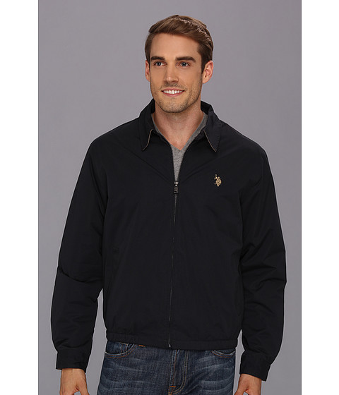 U.S. POLO ASSN. - Micro Golf Jacket w/ Polar Fleece Lining (Classic Navy) Men