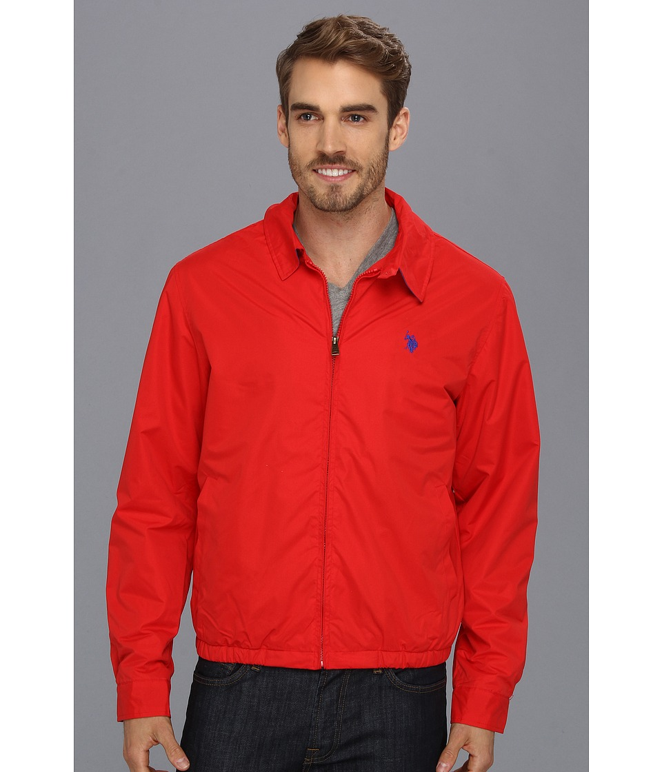 U.S. POLO ASSN. - Micro Golf Jacket w/ Polar Fleece Lining (Engine Red) Men's Jacket