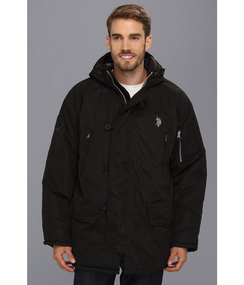U.S. POLO ASSN. - Long Snorkel Jacket (Black) Men