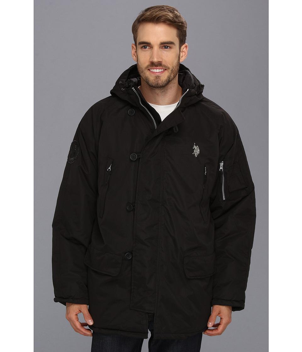 U.S. POLO ASSN. - Long Snorkel Jacket (Black) Men's Coat